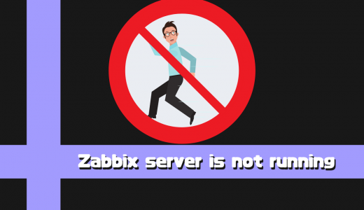 【Zabbix】[Zabbix server is not running]への対処と言語設定